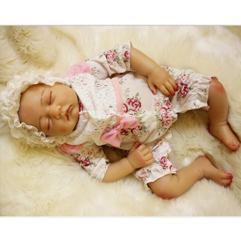 50cm Soft Lifelike Real Human Skin Solid Silicone Reborn Baby Doll Toy 20inch Realistic Alive Reborn Babies Newborn Baby Toys