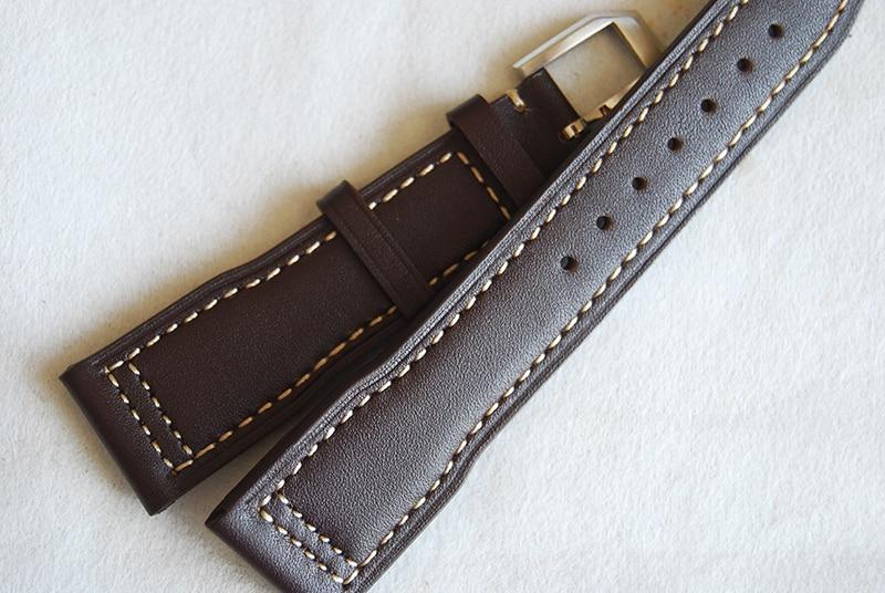 7d621804529d Correa de reloj de cuero genuino marrón oscuro de alta calidad de 21mm para  pulsera de la serie ...
