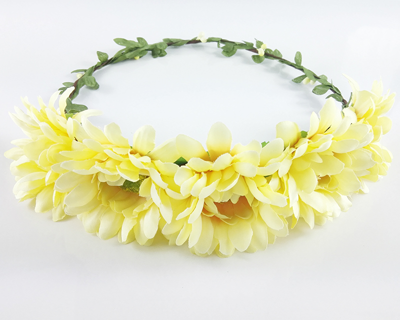 Bohemian bridal jewelry sunflower head wreath floral flower hair bohemian bridal jewelry sunflower head wreath floral flower hair garland crown head band young girls festival gift in hair accessories from womens clothing mightylinksfo
