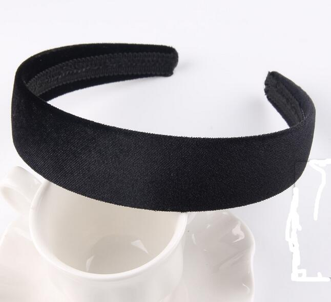 Girl's Accessories Original 20pcs Black Color Girl Lady Pleuche Hair Hoop Hair Band Velvet Covered Basic Headbands Headwear Hair Accessories Fj3132 Online Shop Apparel Accessories