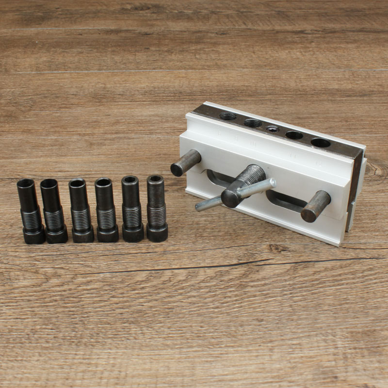 Self Centering Dowelling Jig Drilling Tools Kit For Wood Working Joinery Punch Locator LKS99