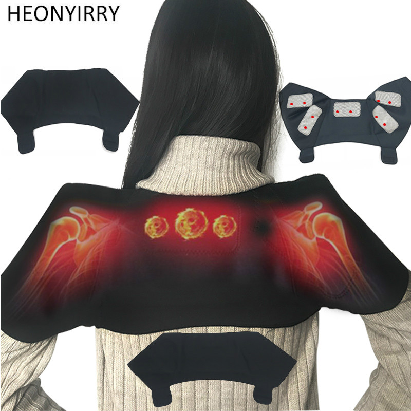 Tourmaline Magnetic Therapy Neck Brace Support Relieve Shoulder Neck Pain Improve Periarthritis Self Heating Belt Shoulder Care