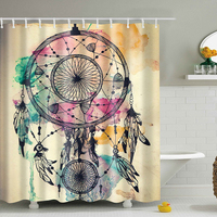 3D Shower Curtains Decor Collection Nautical Colorful Seascape Picture Print Bathroom Set Fabric Shower Curtain With