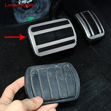 2Pcs Brake Pedal Cover Drill Steel  Non-Slip Car Pedal Cover Set Kit Pedal Car Styling For 2017 2018 Peugeot 3008 5008 цена и фото