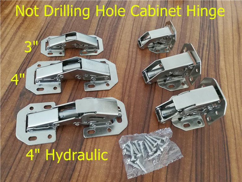 90 Degree Not Drilling Hole Cabinet Hinge Hydraulic  Cabinet Cupboard Door Hinges Soft Close Furniture hinges Hardware 2pcs 90 degree concealed hinges cabinet cupboard furniture hinges bridge shaped door hinge with screws diy hardware tools mayitr