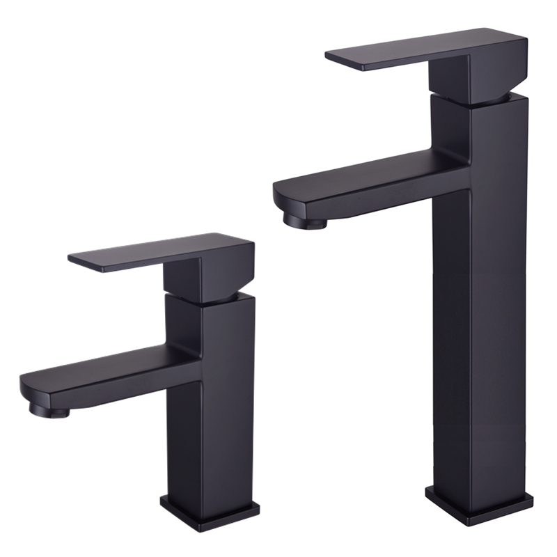 Free shipping matte black color 304 stainless steel  Waterfall Bathroom Basin Faucet Single Handle Sink Mixer Tap BL008 free ship classic bathroom faucet matte black brass basin sink faucet cold hot tap single handle taps mixer