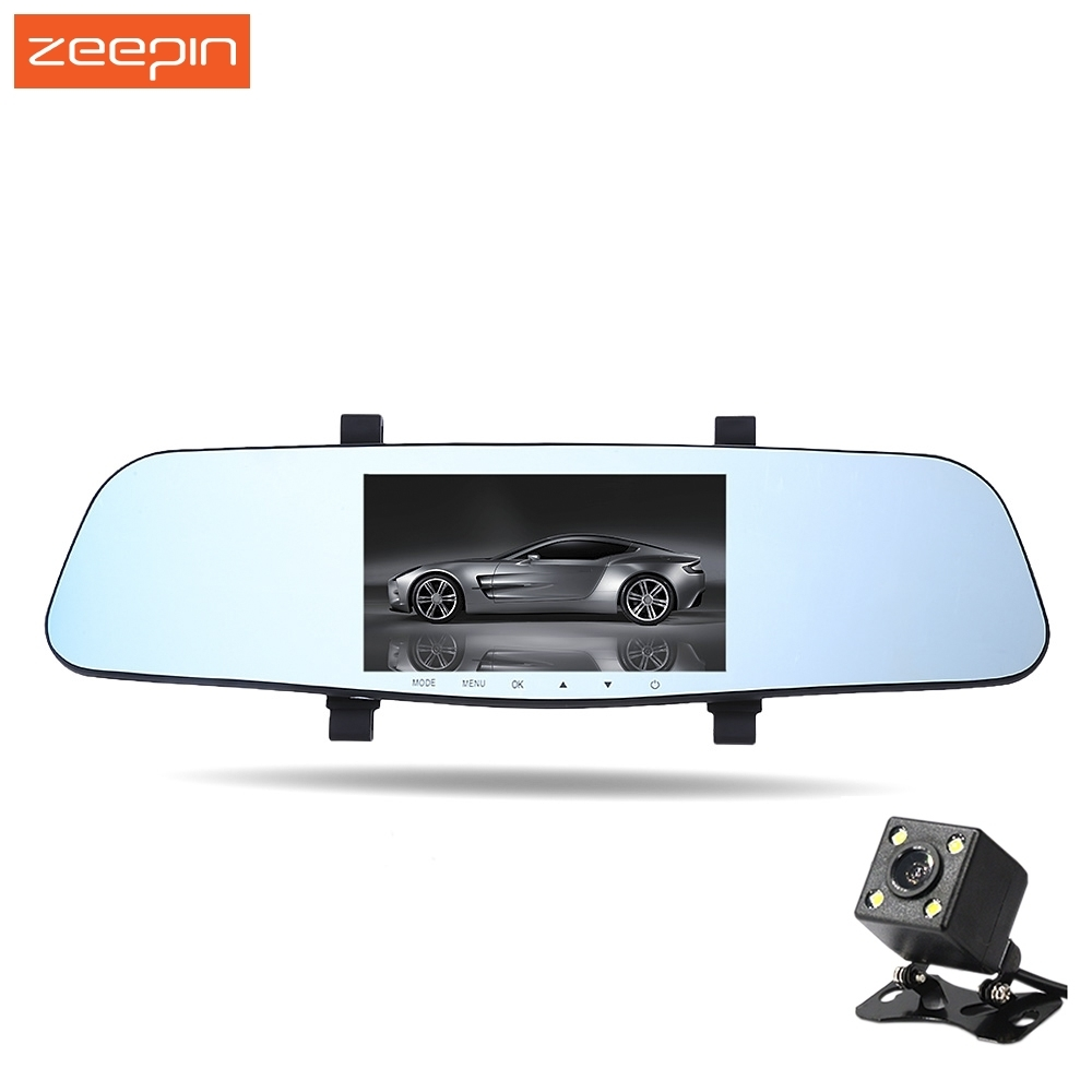 Zeepin DVR Driving-Recorder Rear-View-Mirror-Vehicle G-Sensor Super-Night-Vision Car