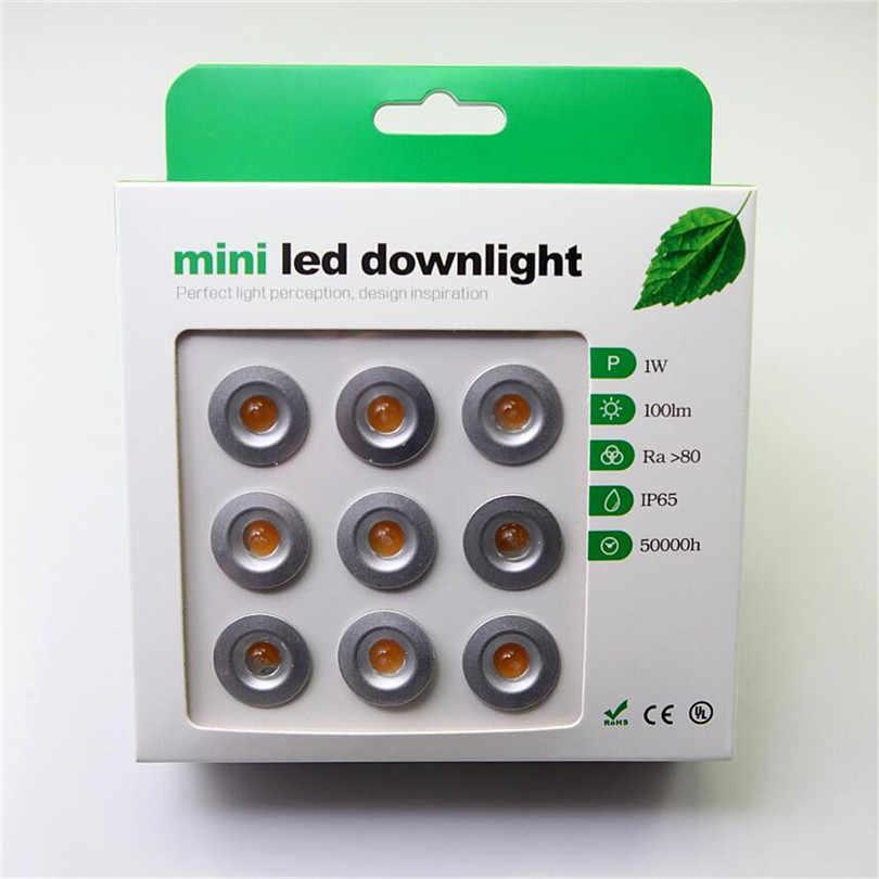 18 CÁI/LỐC vòng trần ánh sáng tại chỗ Mini 1 Wát downlight led 12VDC 60D Mini led đèn trắng hoặc trắng ấm Hộ Gia Đình trắng đèn