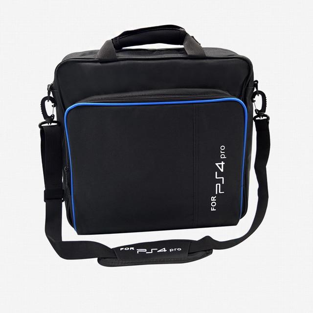 Per PS4 / PS4 Pro Sottile Gioco Sytem Sacchetto di formato Originale Per PlayStation 4 Console Proteggere Spalla Carry Bag Borsa caso Della tela di canapa 3