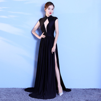 Floor Length Full manual Gauzy Sexy Star full Prom Evening dresses 2018 Cocktail dress Night entertainment venue dress