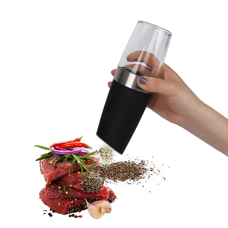 Automatic Electric Kitchen Seasoning Grinding Gravity Pepper Grinder Mill Muller Tool Automatic mills LED Light Salt