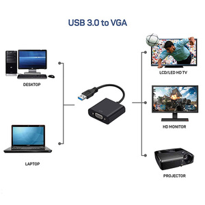 Image 3 - Rovtop USB 3.0 to VGA Adapter External Video Card Multi Display Converter for Win 7/8/10 Desktop Laptop PC Monitor Projector