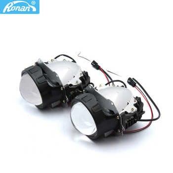 "RONAN Car Styling 3.0\""universal Bi LED Projector Headlights Lens OS-RAM Chip Super High Low Beam 5500K Auto Headlamp Retrofit - Category 🛒 Automobiles & Motorcycles"