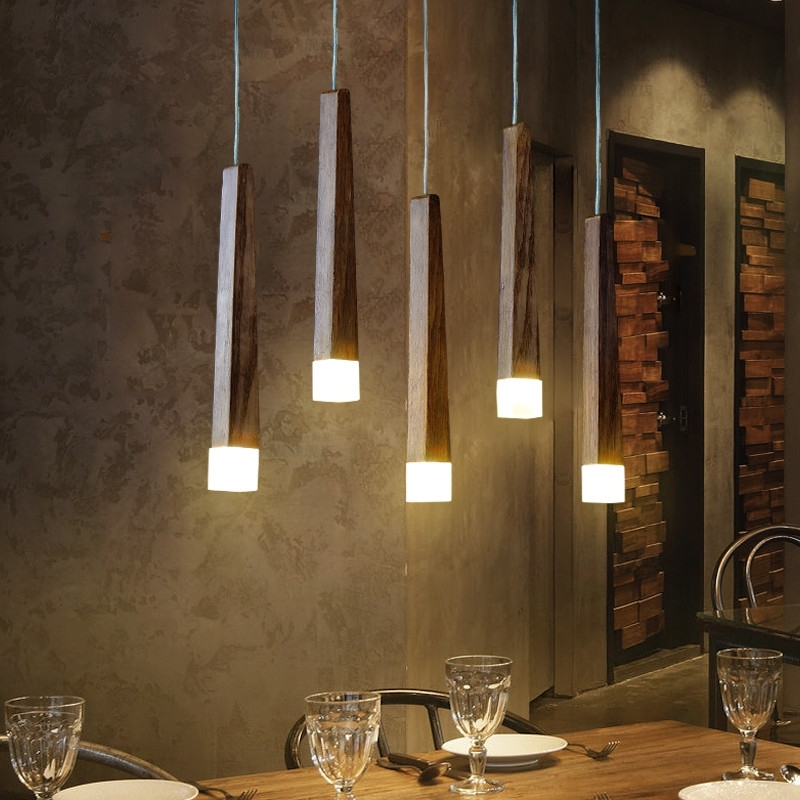 GZMJ Country Style Wood Pendant Lights LED Loft Decor Hanging Lamp for Foyer Living Room Hotel Cafe Restaurant Modern Wood Lamp