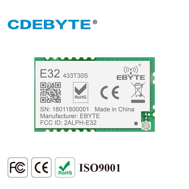 E32-433T30S Lora SMDLong Range SX1278 433mhz 1W IPX timbre trou antenne IoT uhf sans fil émetteur-récepteur récepteur Module