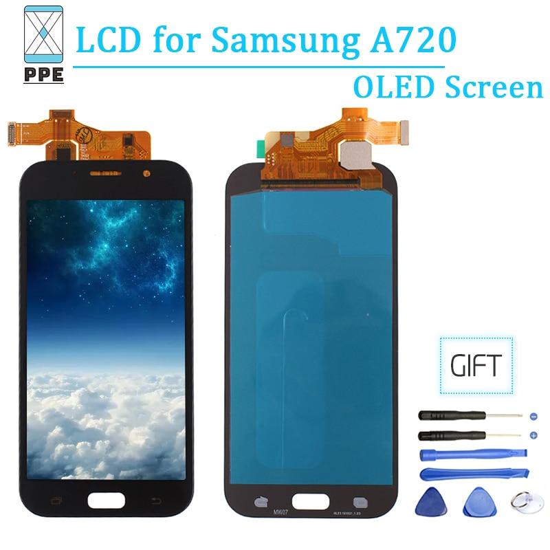 AAA OLED Pour Samsung A720 Galaxy A7 2017 A720M SM-A720F écran tactile écran lcd verre numériseur 5.7