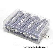 10pcs/lot 26650 Battery Case Holder Box For 4 X 26650 Batteries Transparent Hard Plastic Case battery storage boxes Organizer стоимость