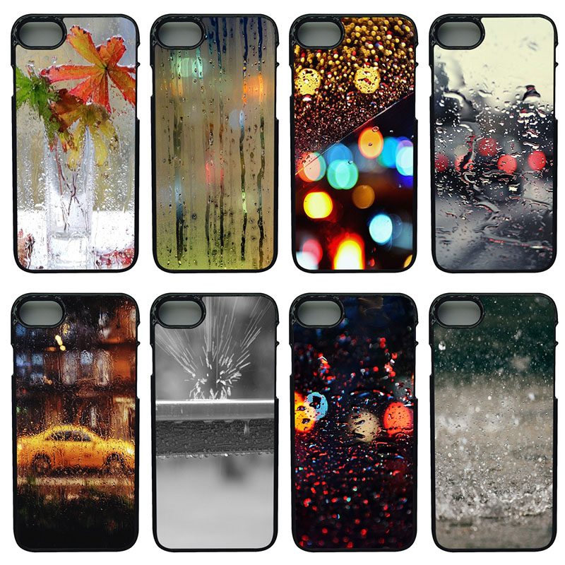 Colorful Raindrop New Personalized Cell Phone Case Hard Cover for iphone 8 7 6 6S PLUS X 5S 5C 5 SE 4 4S iPod Touch 4 5 6 Shell