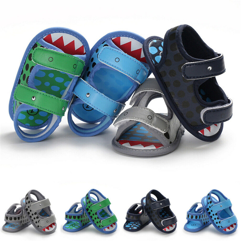 Summer 0-1Y Kids Infant Toddler Baby Soft Sole Sandal PU Casual Pre-walker Shoes