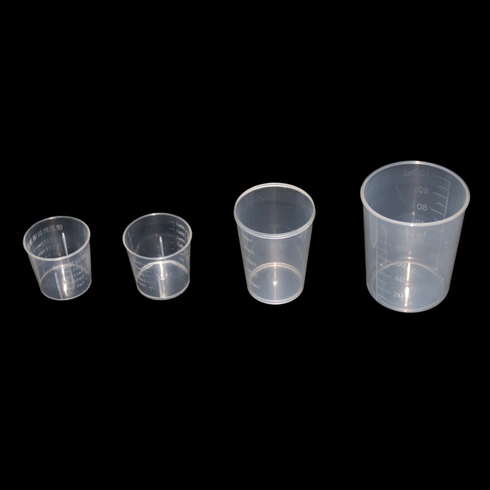 15/20/30/50/100ml Plastic Flask Digital Measuring Cup Cylinder Scale Measure Kitchen Chemistry Lab Laboratory Tools 2 Pcs