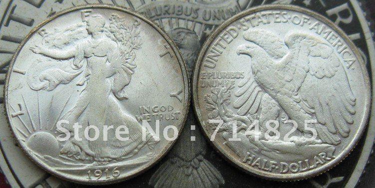 ab17dfa0e0 1916 caminando libertad medio dólar UNC - a599