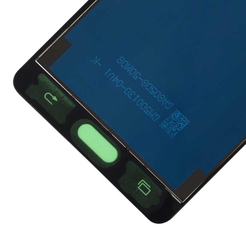 TFT สำหรับ Samsung Galaxy A5 2015 LCD A500 จอแสดงผล Touch Digitizer Sensor Glass Assembly สามารถปรับ A500 A500F A500FU A500H