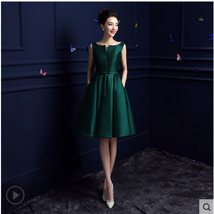 2015 Spring summer cocktail dresses scoop neck robe de cocktail fashion knee length cocktail dress