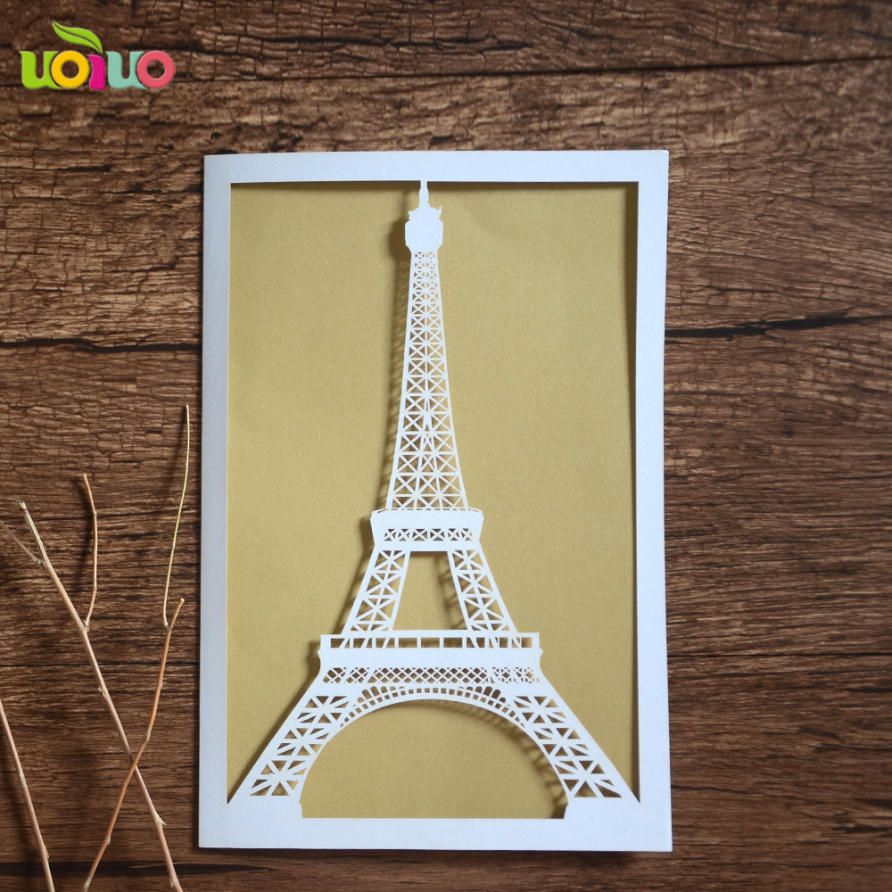 Eiffel tower invitations laser cut latest wedding invitations design eiffel tower invitations laser cut latest wedding invitations design birthday invitation card in cards invitations from home garden on aliexpress filmwisefo