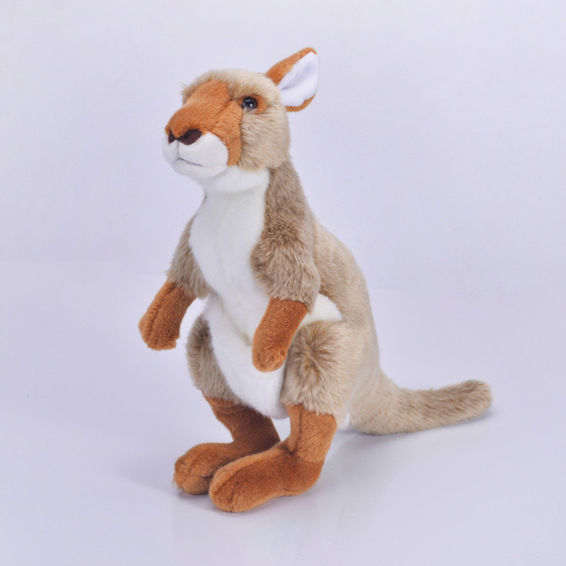 Big Size 120cm Kangaroo Plush Toy Stuffed Animal Soft Doll Toys For