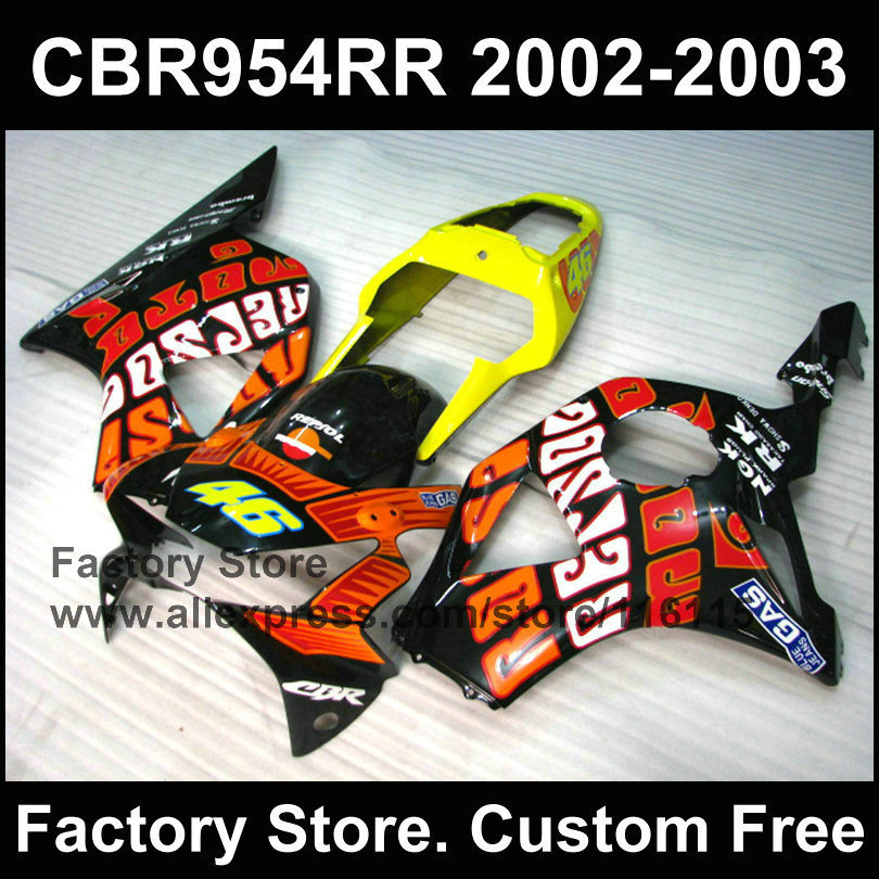 Custom motorcycle Repsol body kit for HONDA CBR900RR 2002 2003 fireblade CBR 954RR CBR900 RR 02 03 Injection mold fairing kit конфеты lotte korea lotte anytime 111g 155g