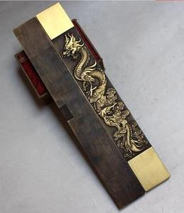 Image 3 - Statue du grand dragon et du phénix chinois, Rare Collections, poids en papier en cuivre