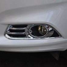 For Ford Mondeo Fusion Contour 2013 2014 2pcs Chrome Car Front Fog Light Lamp Cover Moulding