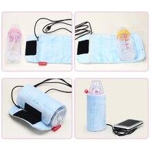 USB Milk Water Warmer Bag Travel Stroller Baby Nursing Bottle Heater