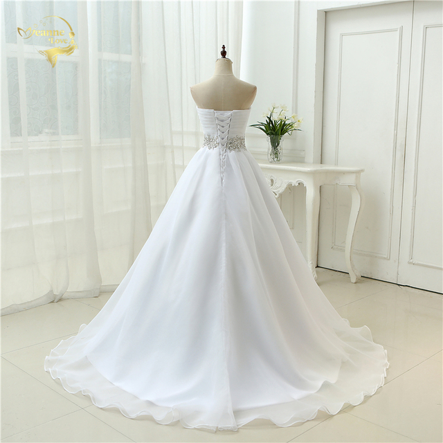 White New Design A line Perfect Belt Robe De Mariage Strapless Lace Up Wedding Dresses OW 7799