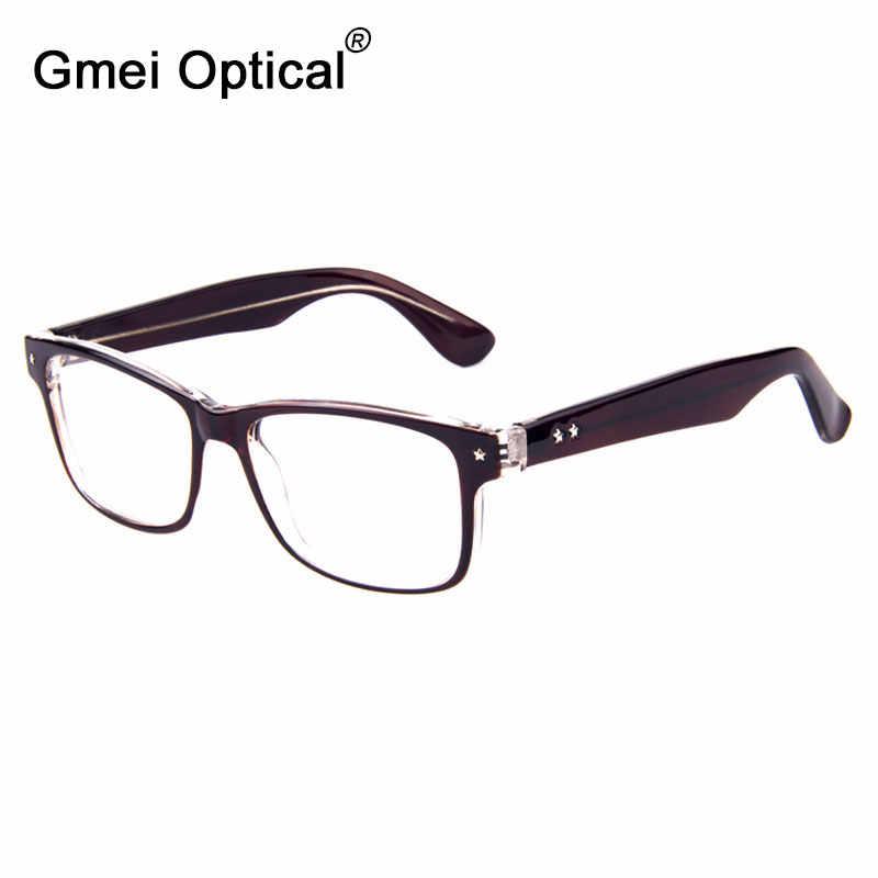 Gmei Optik Fashion Oval Penuh Rim Kacamata Kacamata untuk Pria Resep Kacamata dengan Bintang Desain Wanita Kacamata T8001