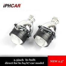 2 шт. 2,5 дюйма Биксенон hid Автомобильная прожекторная линза ксенона Лампа фара подходит для H1 H4 H7 автомобиль монтажный комплект бесплатная доставка