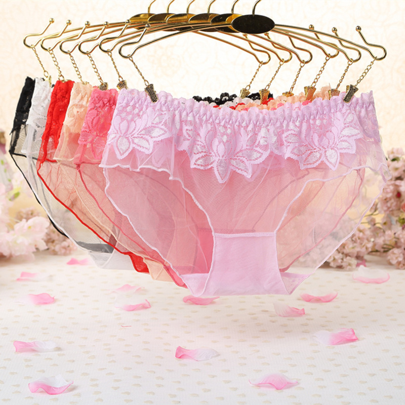 7color Gift Beautiful Lace Leaves Women's Sexy Lingerie Thongs G-string Underwear Panties Briefs Ladies T-back 1pcs/Lot Wq895