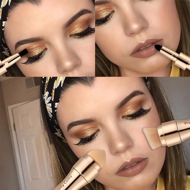 Multi-functional Professional 4 in 1 Makeup Brushes Foundation Eyebrow Eyeliner Blush Powder Cosmetic Concealer Brushes 1