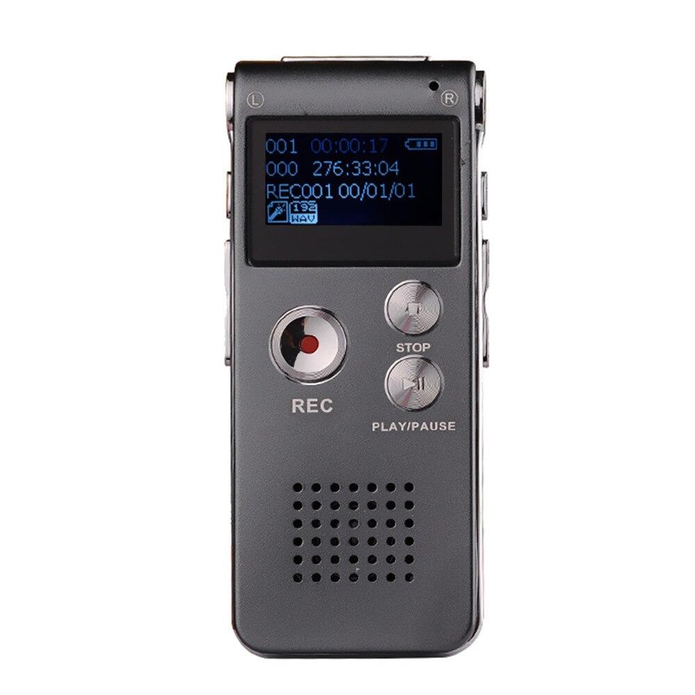 100% Новые 8 ГБ мини голос Регистраторы Flash Цифровой Аудио Голос Регистраторы 650Hr Диктофон 3D стерео MP3-плееры