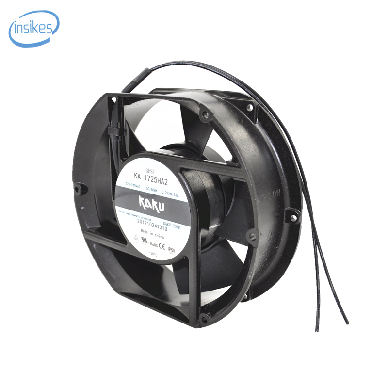 KA1725HA2 Double Ball Bearing Cooling Fan AC 220V-240V 0.27/0.23A 17251 17CM 172*150*51mm 2 Wires delta new efb1548vhg 17251 17cm 48v 0 83a circular drive cooling fan for 172 172 51mm