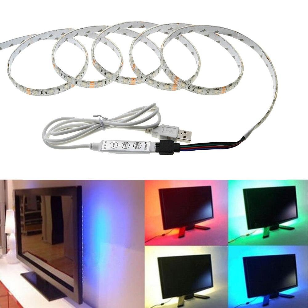 USB LED Strip 5050 3528 Cinta impermeable a prueba de polvo DC5V TV - Iluminación LED