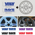 4PCS Car Styling Volkracing Sticker Decal Volk Rays Wheel Sticker Racing Engineering Wheel Drives Emblem Badge Universal Fit