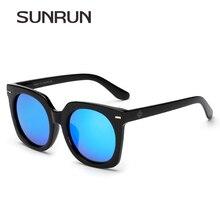 SUNRUN Polarized Sunglasses Women Plastic Frame Fashion Sun Glasses  Vintage Sun Glasses Men Coating Mirrored Brand Design Y9942