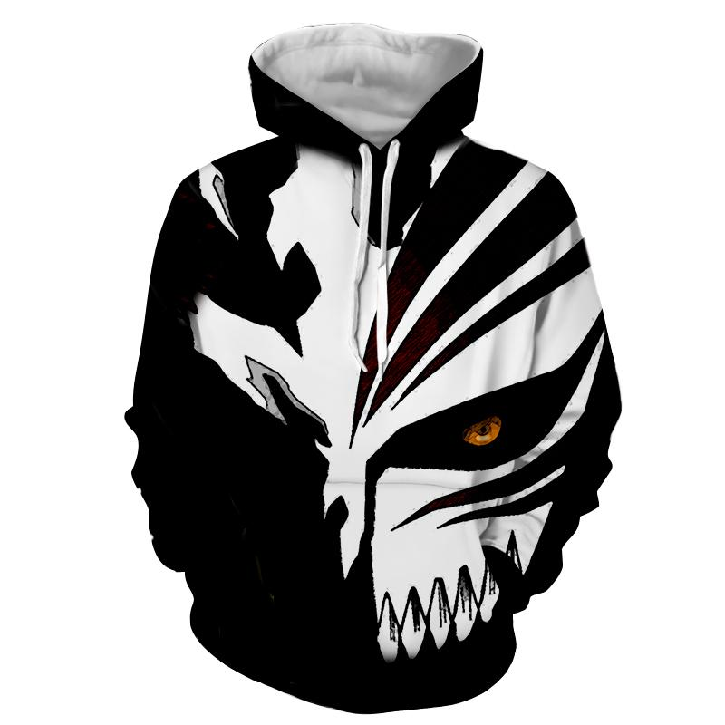 2018 New Fashion men women Cool sweatshirt Hoodies Men 3D print Death Note Anime Black Loose Streetwear Long sleeve clothing