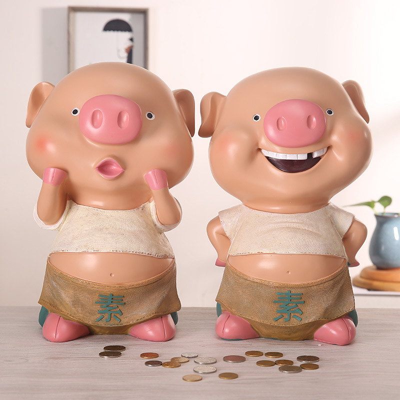 2 Kinds Standing Pig Action Figures,13*18CM Figure Collectible Toys,Resin Action Figure Collectible Brinquedos Model Toys Gift