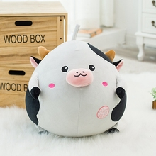 30/40cm Cute fat cow pillow Cushion stuffed comfy soft plush kids toys 2017 new Style Cow plush Toys Fat cattle cloth doll