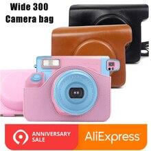 Из искусственной кожи сумка мешок крышки протектор и плечевой ремень для Fujifilm Instax Wide 300 моментальной печати Камера