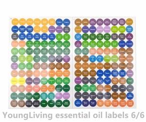 Image 5 - 1 ensemble pré imprimé huile essentielle bouteilles bouchon couvercle étiquettes cercle rond autocollants colorés pour tous doTERRA jeune vivant huiles organisateur