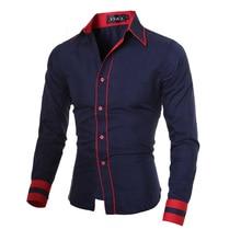 Europe New Design Spring Slim Stitching Long Sleeve Dress font b Shirts b font font b