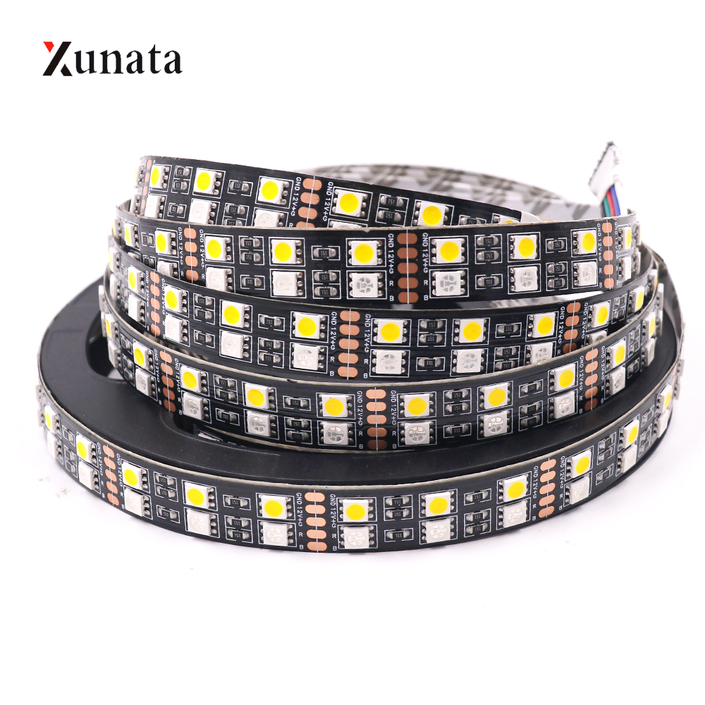 5m 12V 24V SMD5050 LED Strip Light 120Leds/m Double Row LED Tape White Warm White RGB RGBW RGBWW Waterproof LED Light Strip